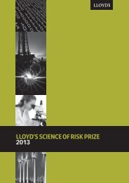 Science of Risk booklet - Lloyd's