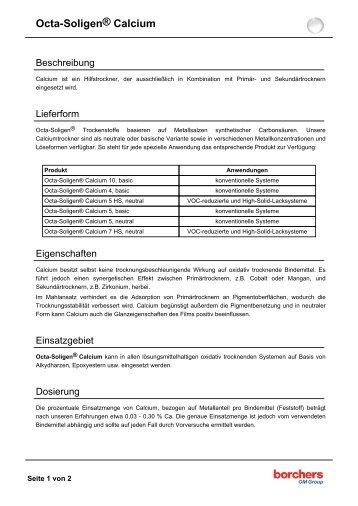 Octa-Soligen® Calcium - Borchers GmbH