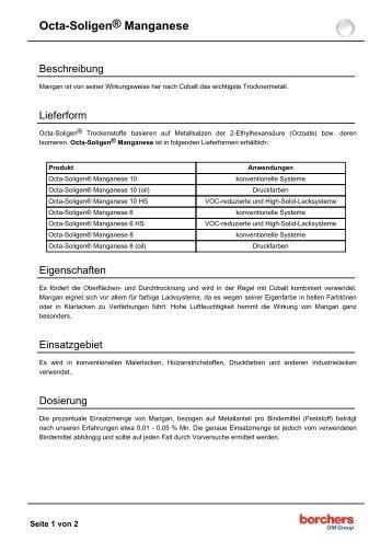 Octa-Soligen® Manganese - Borchers GmbH