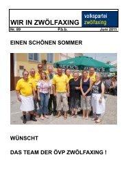 TERMINVORSCHAU - ÖVP Zwölfaxing - Volkspartei Niederösterreich