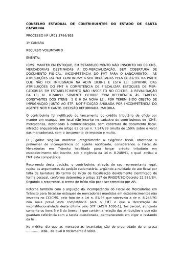 CONSELHO ESTADUAL DE CONTRIBUINTES DO ESTADO ... - APET