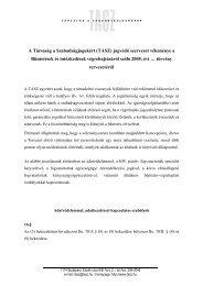 A TASZ véleménye a büntetések és intézkedések végrehajtásáról ...