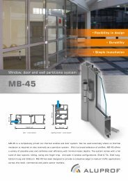 Window, door and wall partitions system - RIBA Product Selector