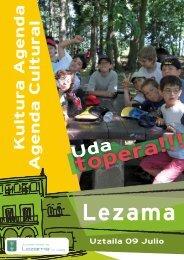 Lezama Agenda Uztaila - Lezamako Udala