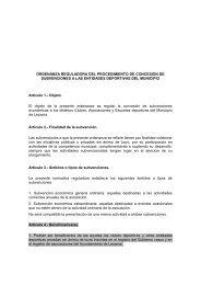 Ordenanza reguladora del procedimiento de concesión de ...