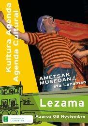 Lezama Agenda Azaroa - Lezamako Udala