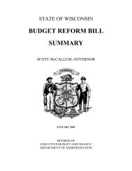 BUDGET REFORM BILL SUMMARY - Madison Budget Office