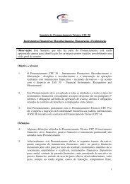 1 Sumário do Pronunciamento Técnico CPC 38 Instrumentos ... - CVM
