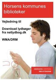 BIBLIOTEKERNE Vejledning til Download lydbøger fra netlydbog.dk ...