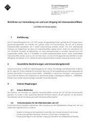 Interessenskonflikte - LGT Capital Management