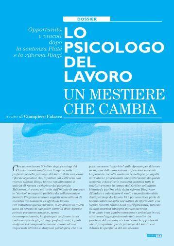 Dossier Lo psicologo del lavoro: un mestiere che cambia