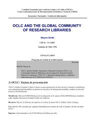 oclc and the global community of research libraries - Infolac