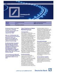 Länderprofil Brasilien - Deutsche Bank