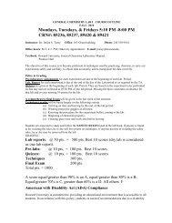 General Chemistry Lab I - COAS - Howard University