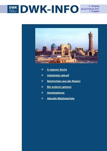 In eigener Sache Usbekistan aktuell Nachrichten ... - AHK Zentralasien