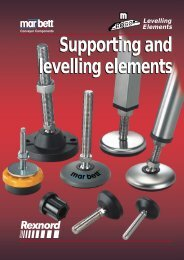 Supporting and levelling elements Supporting and levelling elements