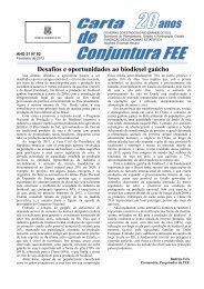 Carta de Conjuntura - FEE