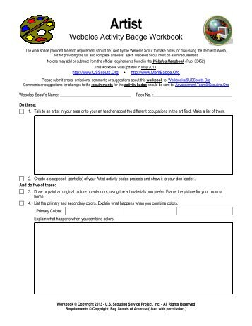 Cub Scout Geology Worksheet - Merit Badge Research Center
