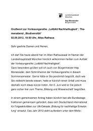 Grußwort von Stadträtin Sabine Krieger - BenE – München