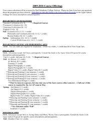 list of 2009-2010 Course Offerings - Key School