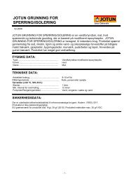 jotun grunning for sperring/isolering - Jotunproff