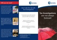 Tax Investigations are not always forecast! - Menzies
