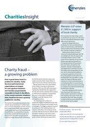 Charities Insight - Autumn 2011 - Menzies