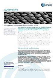 Capability statement - Automotive - Menzies