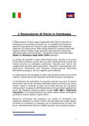 rapporto - Osservatorio di Pavia
