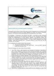 November 2010 Pension scheme auto-enrolment guide to ... - Menzies