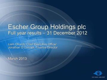 Escher Group Holdings plc - Investors