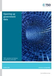 Opening up government data - The Stationery Office