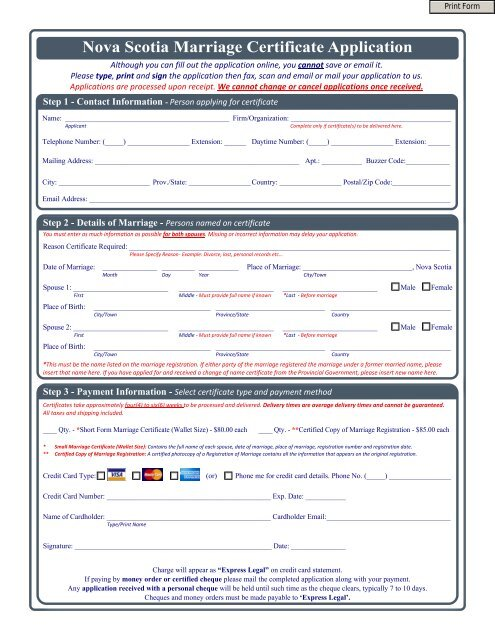 Ns Marriage Certificate Application V4 Vitalcertificates Ca