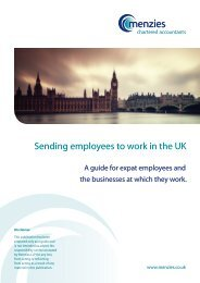 Sending employees to work in the UK - Menzies