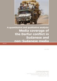 Media coverage of the Darfur conflict in Sudanese and non ...