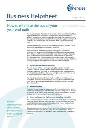 How to reduce audit fees - Menzies