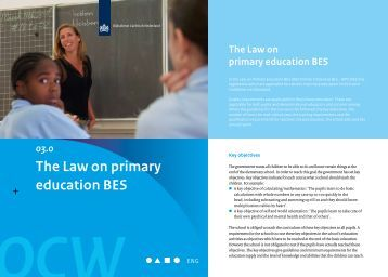 The Law on primary education BES - Rijksdienst Caribisch Nederland