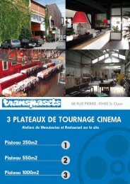 Ateliers de Menuiseries et Restaurant sur le site - Euro Media Group