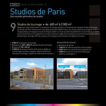 Brochure Studios de Paris - Euro Media Group
