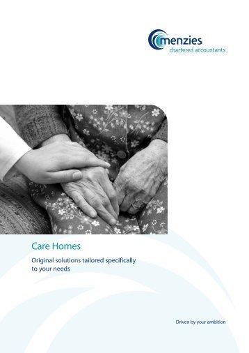 Care Homes Brochure - Menzies