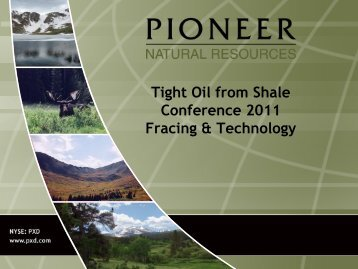 Tom Sheffield, Pioneer - Tight Oil From Shale Plays World Congress ...