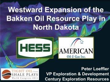 Peter Loeffler - Tight Oil From Shale Plays World Congress 2011