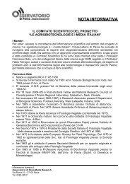 CV membri Comitato Scientifico (100Kb) - Osservatorio di Pavia