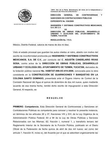 México, Distrito Federal, a treinta y uno de agosto de dos mil nueve