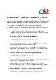 Wat krijgen we nou? Tien tips over succesvol samen ondernemen!