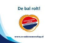 Inhoud van de CE Ondernemerschap