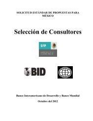 Solicitud Estándar de Propuestas para Selección de Consultores ...