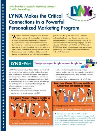 LYNX Sales Sheet - Keiger Graphic Communications