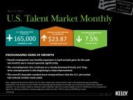 U.S. Talent Market Monthly - Kelly Services