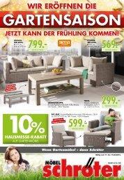 Moebel Schroeter Fruehjahrshausmesse Wochen Einleger 1115